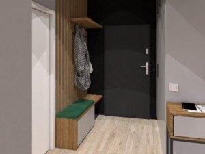 Przykładowa aranżacja korytarza