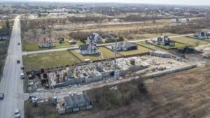 Zdjęcia z budowy z 9.04.2021, nowe mieszkania, Busko-Zdrój ul. Młyńska (zdj. 5)