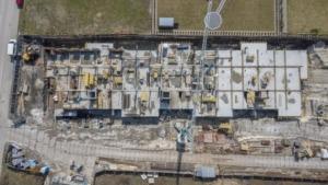 Zdjęcia z budowy z 9.04.2021, nowe mieszkania, Busko-Zdrój ul. Młyńska (zdj. 7)