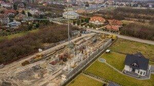 Zdjęcia z drona, budowa przy ul. Młyńskiej w Busku-Zdroju z 06.01.2021 r. (2)