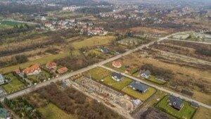Zdjęcia z drona, budowa przy ul. Młyńskiej w Busku-Zdroju z 06.01.2021 r.